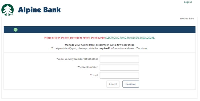 alpine bank enroll online banking